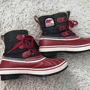 Sorel Tivoli Red Waterproof Boots NL1530